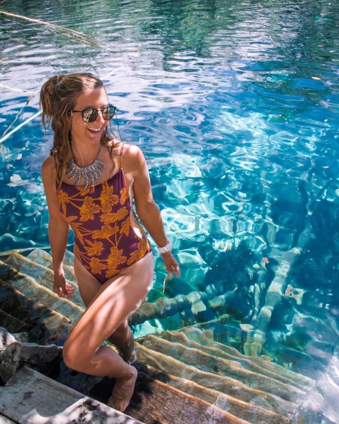 Cenote Carwash Quintana Roo Mexico North America