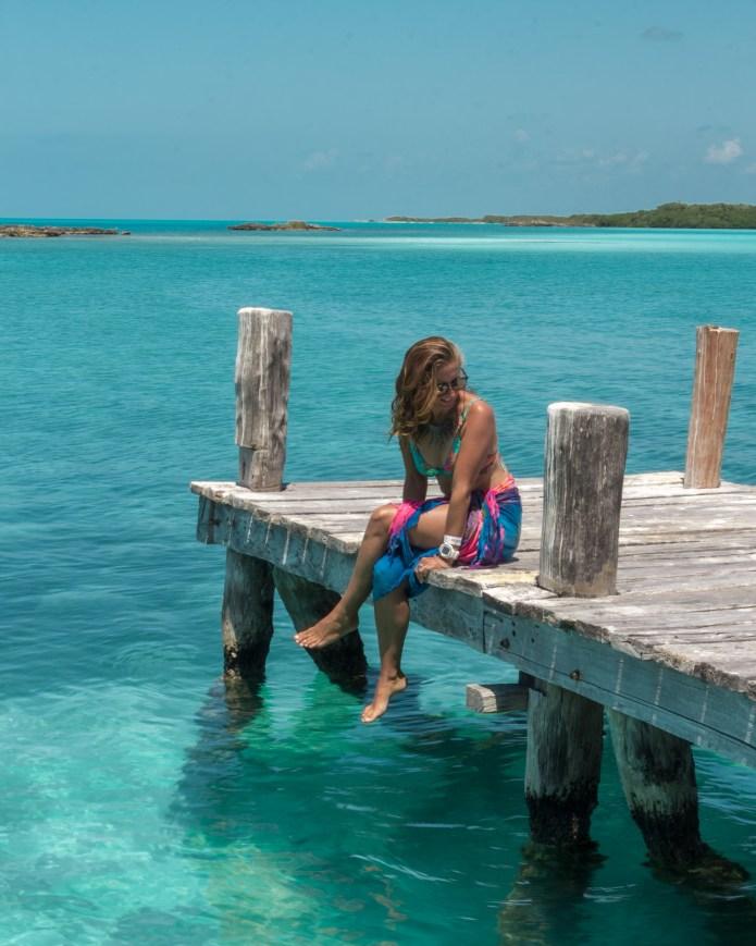 Isla Contoy Wharf Girl Mexico North America
