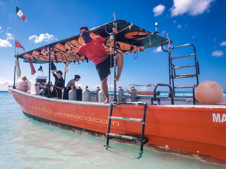 Scuba Dive ProDive International Playa del Carmen Mexico North America