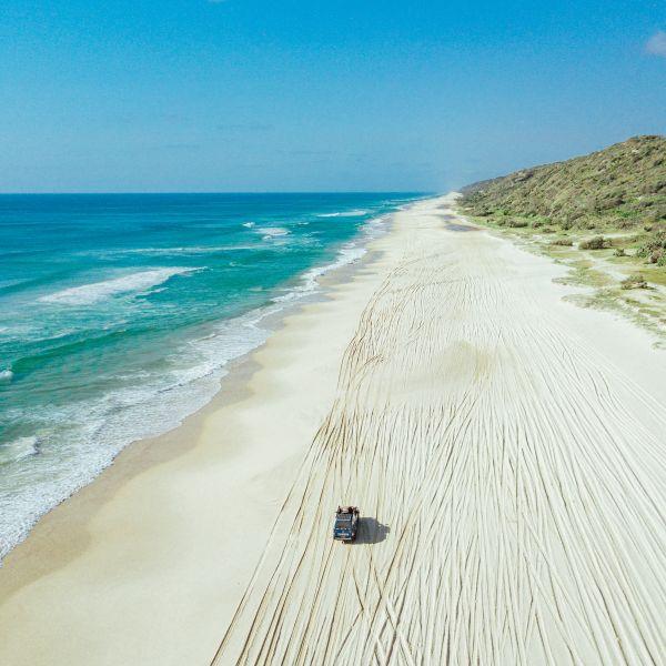 Beach 4WD Fraser Island Queensland Australia