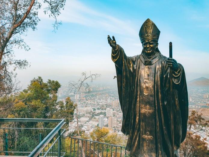 Statue Santiago Chile South America