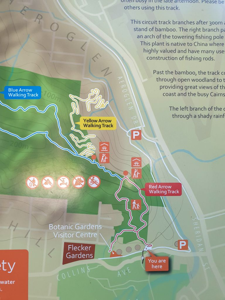 The Arrows Hike Cairns Queensland Map