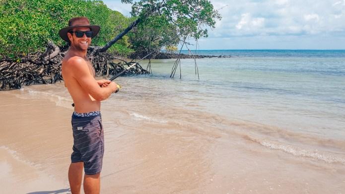 Fishing 5 Beaches Cape York Queensland Australia