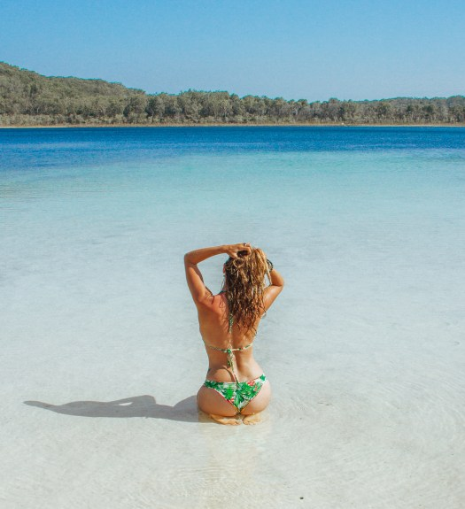 Lake Boomanjin Fraser Island Queensland Australia