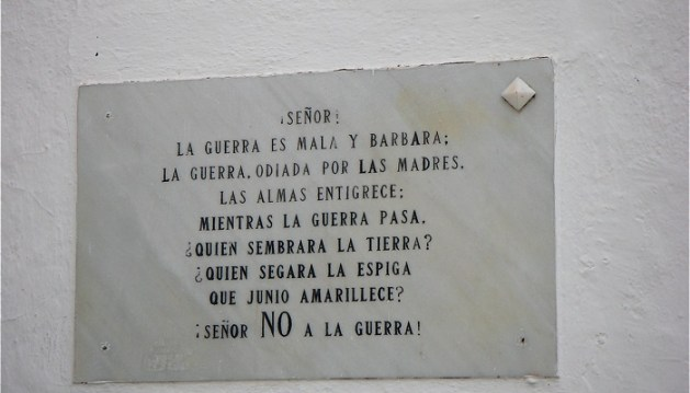 Sign in a Church in Andalusia.
