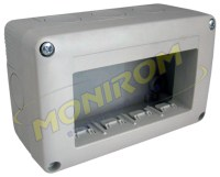 Doze electrice MDL – Doza aplicata IP40 – 4module (tip 27004)