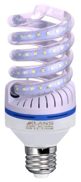 LED - Lichidare de stoc Bec Led – Klass spirala E27/12w 2700k  *TV 0,25ron