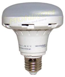 LED - Lichidare de stoc Bec Led – Plat 15w/E27 6400k (d=9cm)  *TV 0,25ron