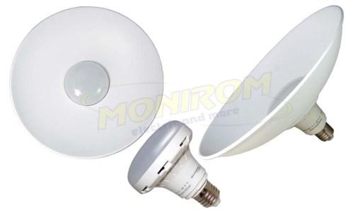 LED - Lichidare de stoc Bec Led – Plat cu dispersor  15w/E27 6400k (9cm/28cm)  *TV 0,25ron