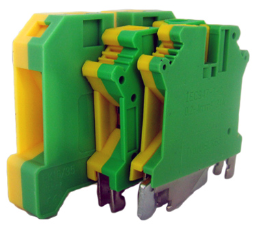 Tablouri electrice Regleta sina DIN – MTK 10mm – yellow/green