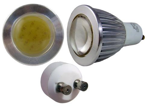 LED - Lichidare de stoc Bec Led – GU10 COB 230v/3w 6400k  *TV 0,25ron