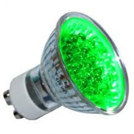LED - Lichidare de stoc Bec Led – GU10 230v/18pcs  Green  *TV 0,25ron