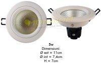 LED - Lichidare de stoc Spot Led H-3008C  3″   5w/6400k  *TV 0,25ron