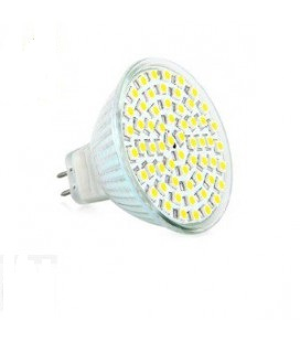 LED - Lichidare de stoc Bec Led – MR16 12v/60SMD 2700k  *TV 0,25ron