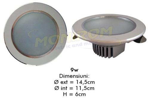 LED - Lichidare de stoc Spot Led  4,0″ – 9w/6400k  *TV 0,25ron