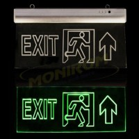Corp iluminat urgenta - EXIT Klass 3124 – Lampa EXIT Led 3w (6×0,5w / 360x200x22mm) – sageata sus