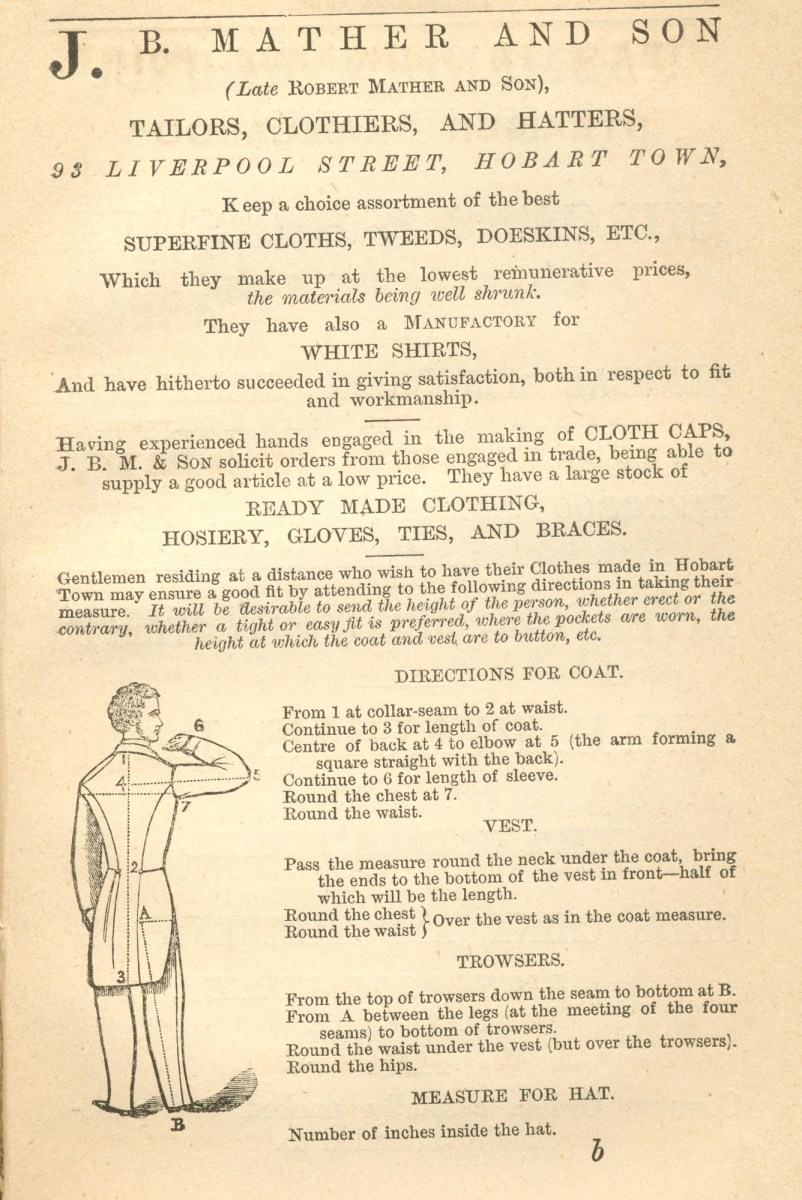 J. B. Mather and Son, Tailors, Clothiers & Hatters