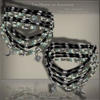 Men's Day 12b: Ivanhoe Mens Wht Bracelets