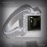 Men's Day 1: Snake Eyes Men's Ring