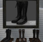 Gabriel http://maps.secondlife.com/secondlife/Lost%20Cove/177/146/1000 *Lace-up long boots * Available for Male Slink * 280L/580 fatpack