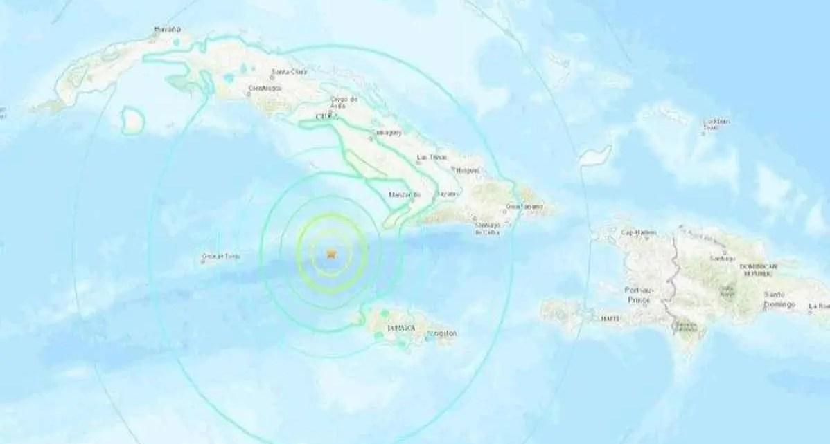 Fuerte Terremoto de magnitud 7,7 en el Caribe, afecta Cuba y Jamaica, El sismo se sinti? en las pen?nsulas de Florida (EEUU) y de Yucat?n (M?xico.