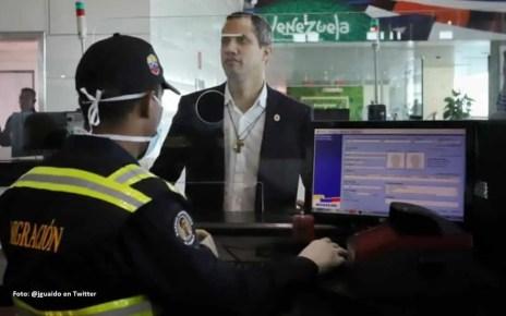 Guaido llego a Venezuela por Maiquetia