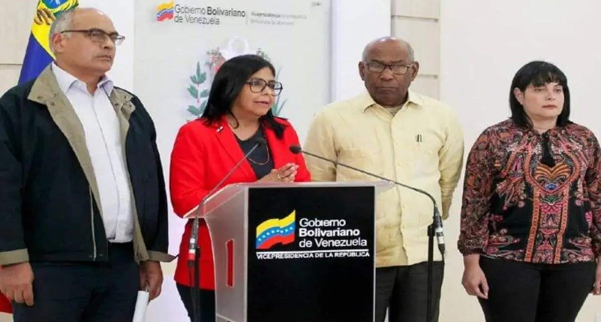 Suspenden clases en todo el territorio nacional por el coronavirus, La vicepresidenta del gobierno de Maduro, Delcy Rodr?guez anunci? la suspensi?n