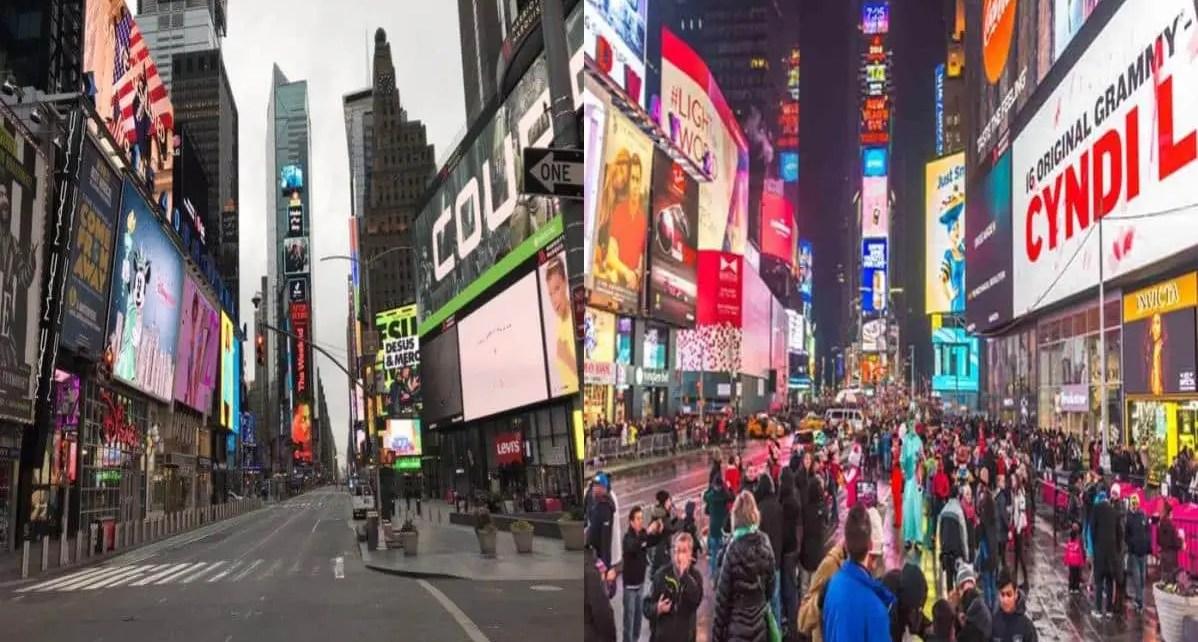 En fotos: el antes y despu?s de sitios emblem?ticos por afectaci?n de pandemia
