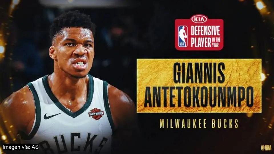 Giannis Antetokounmpo, de los Bucks, es el defensor del ...