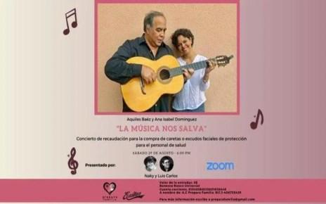 """En apoyo a los medicos: """"La música nos salva"""" el concierto de Aquiles Baéz y Ana Isabel Domínguez en apoyo al personal de salud"""