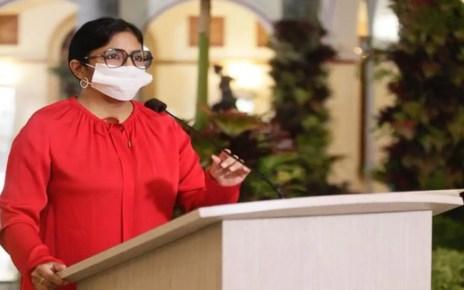 Este #14Oct Delcy Rodríguez reportó 614 casos y 4 fallecidos por coronavirus