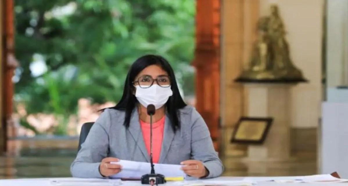La vicepresidenta Delcy Rodríguez presentó el balance de casos de Covid-19 este jueves