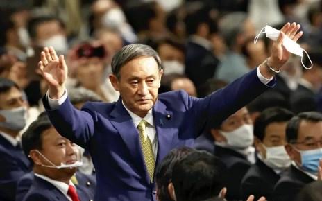 Yoshihide Suga a un paso de convertirse en primer ministro de Japón