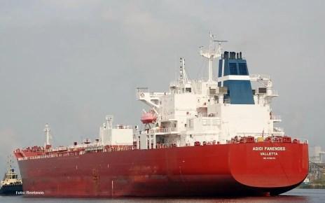 El buque Agioi Fanendes arribó a El Palito posiblemente con diesel para operar las plantas
