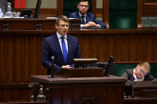 Marcin Warchoł w Sejmie, 20 grudnia 2019