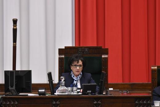 Marszałek EElżbieta Witek, Sejm, 5 maja 2020