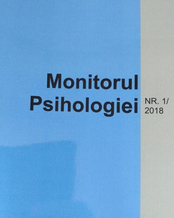 Revista Monitorul Psihologiei - coperta #1