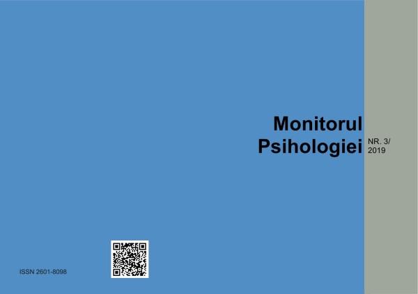 Coperta exterioara revista Monitorul Psihologiei nr 3