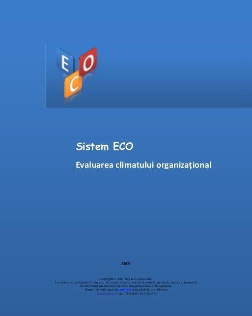 Sistem ECO – Analiza Climatului Organizațional