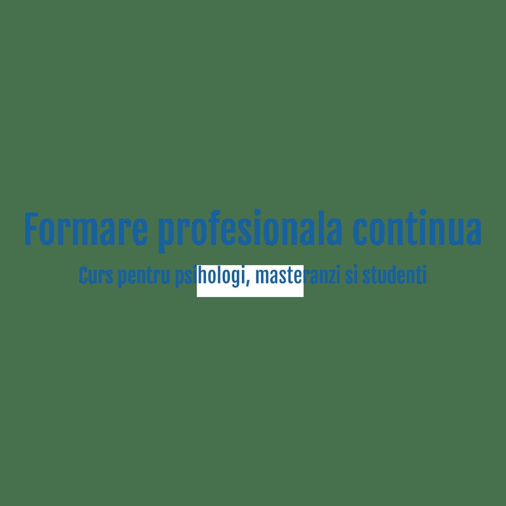 Curs de formare pentru psihologi, workshop psihologie - Monitorul psihologiei