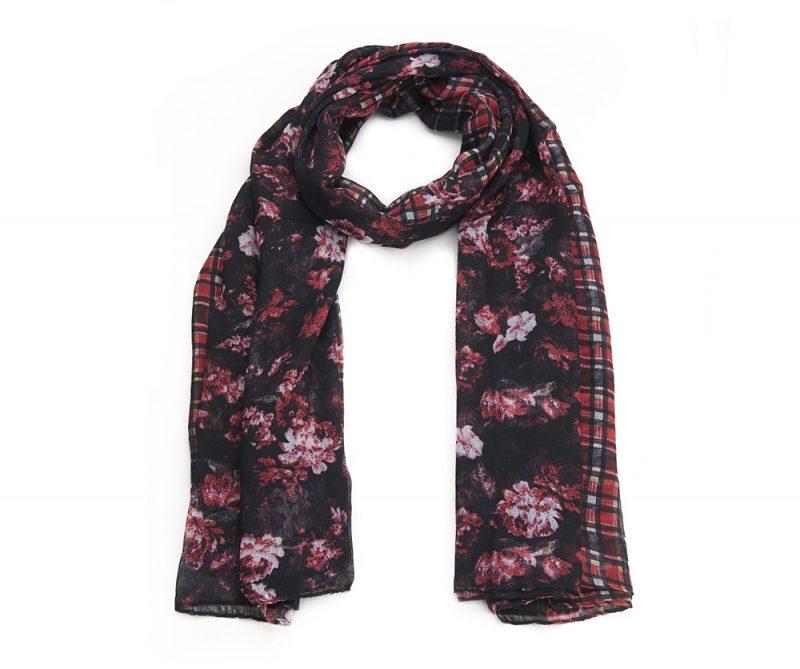 Un motif écossais et fleurs plutôt bohème sobre : voici Enéa