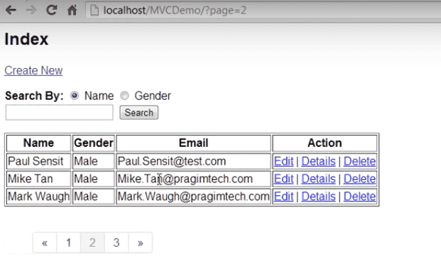 Pass PageList Query Parameters
