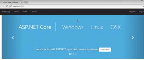 asp.net core application output