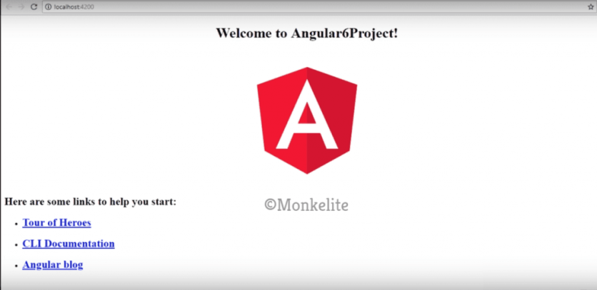 angular 6 project output in localhost