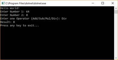 Build and Run project in c sharp