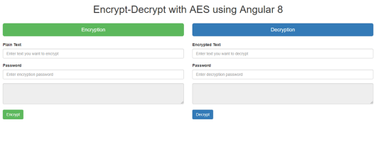 Encrypt and Decrypt output in Angular 8