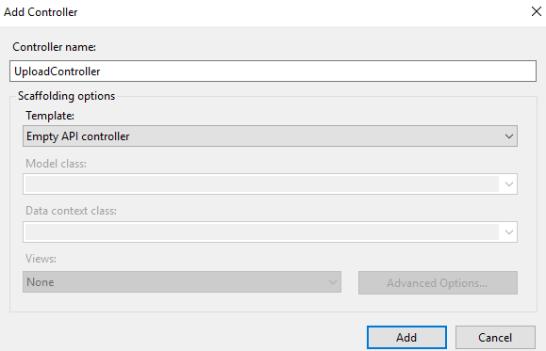 create a new API Controller