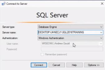 SQL Server connection