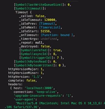 nodejs server running on localhost.