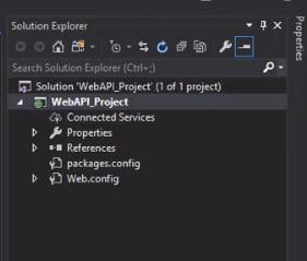 Web API solution explorer